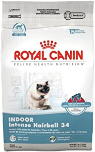 Royal Canin Dry Cat Food, Intense Hairball 34 Formula, 15-Pound Bag