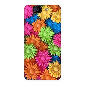 Delighted Art Sunflower Print Back Case Cover for Canvas Knight A350