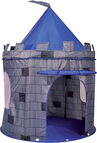 [Knight's Castle Pop Up Kids Playhouse Tent - Blue < Polyester material is durable, strong and easy to clean] (Animal That Starts With The Letter N)