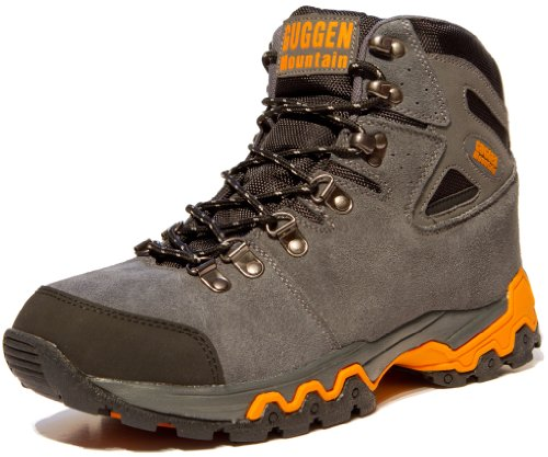 Scarpe da escursionismo Scarpe da trekking Scarpe da montagna Mountain Shoe genere neutro unisex uomo e donna GUGGEN MOUNTAIN M008, Grigio, EU 41