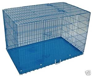 Amazoncom bestpet 3 door folding dog crate cage kennel for 36 inch dog crate with divider