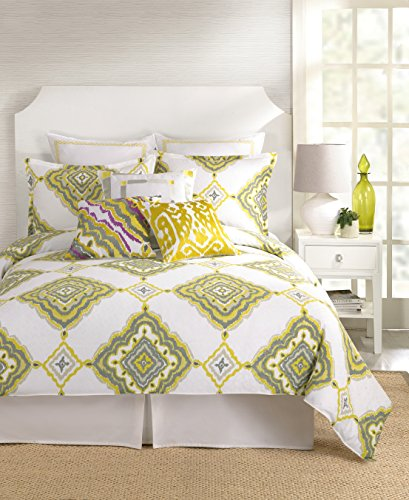 Trina Turk 2-Piece Twiggy Ikat Duvet Set, Twin, Green front-944842