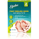 Djudas Foot Exfoliating Peel Mask - Effective Purederm Peeling Gel - Exfoliant, Amazing SPA for Baby Soft Feet - Try It Today - Results Are Guaranteed
