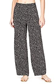 Spotted Wide Leg Beach Trousers