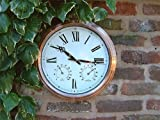 Copper Garden / Outdoor Clock - 37cm (14.6