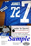"Ed ""Too Tall"" Jones Signed Blue Jersey - Dallas Cowboys Amazon.com"