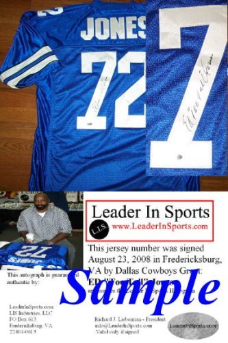 "Ed ""Too Tall"" Jones Signed Blue Jersey - Dallas Cowboys at Amazon.com"