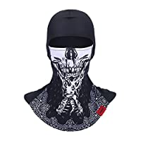 Qinglonglin Motorcycle Balaclava Skull Full Face Mask Breathable Helmet Liner Multipurpose Outdoor Sports Wind Proof Dust Head Hood from Guangzhou Qinglonglin Apparel CO,.LTD
