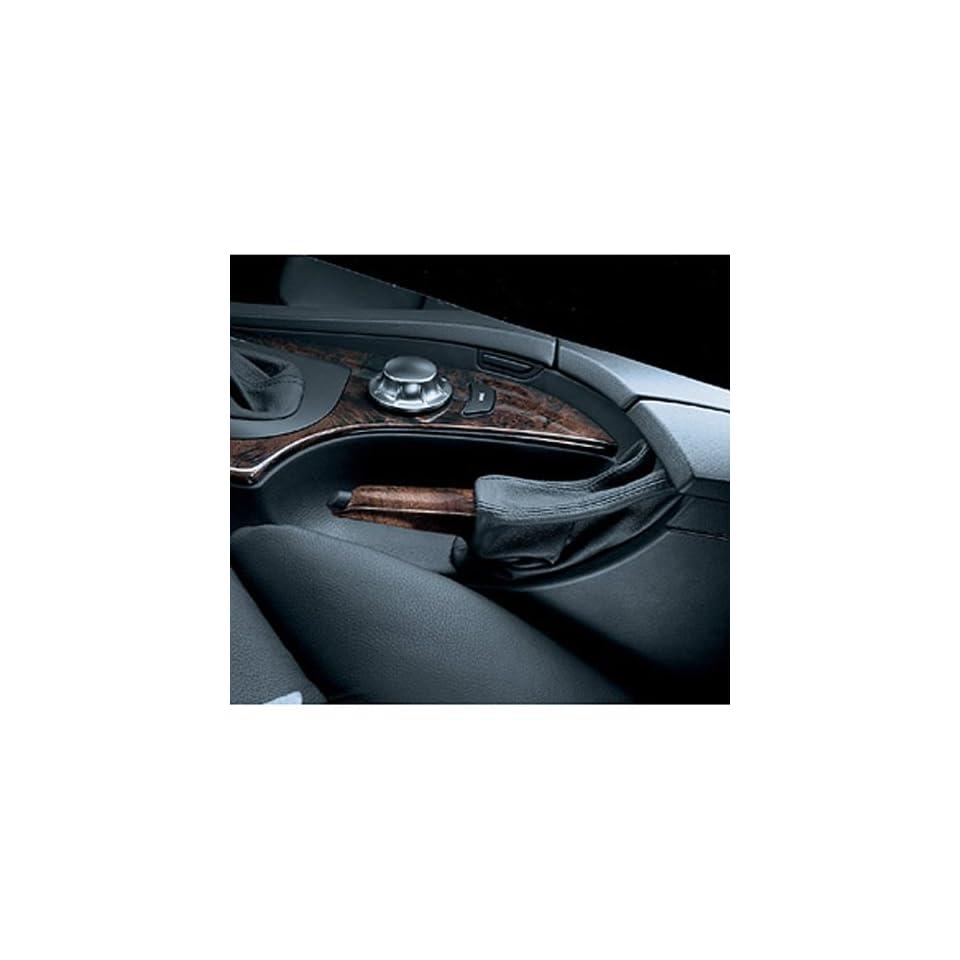 BMW Poplar/Leather Brake Handle  Light Poplar   5 Series 2005 2009/ X3 SAV 2005 2010/ 5 Series Sedans 2010/ 5 Series Sport Wagons 2010/ M5 Sedan 2008 2010
