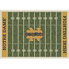 Notre Dame Fighting Irish 7 8 x 10 9 NCAA Home Field Area Rug by Milliken