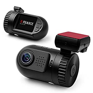 E-PRANCE® Mini 0801 Car DVR Dash Camera Ambarella A2S60 Chip 5M pixel CMOS + GPS Logger + Build-in 8GB Memory + High Resolution Full HD 1080P 30 FPS + G-sensor + License Plate + 135 Degree Wide Angle View