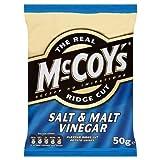 The Real McCoy's Ridge Cut Salt & Malt Vinegar 50g (Pack of 30)