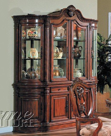 Cheap China Cabinet Buffet Hutch Medium Cherry Finish (VF_AM6274)