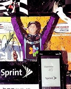 Buy 2011 Denny Hamlin #11 FedEx Pre-Race 8×10 Photo SIGNED by Trackside Autographs