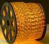 YELLOW 12 V Volts DC LED Rope Lights Auto Lighting 25 Meters(82 Feet)
