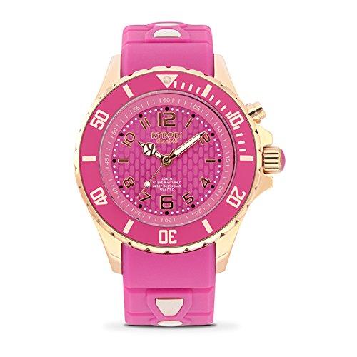 Kyboe. Rose reloj analógico para mujer Quartz de Silicona Púrpura RG 40-012