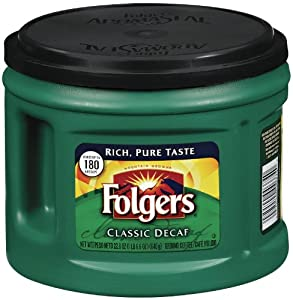 Folgers Classic Decaf, 22.6 Ounce (Pack of 6)