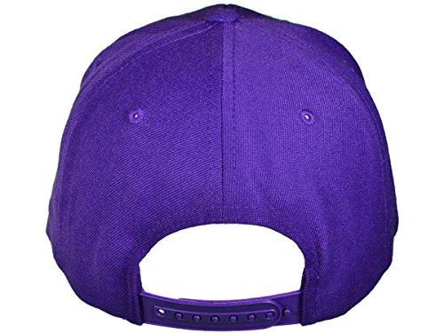 Wholesale Wool Blend Flexfit Yupoong Flat Bill Blank Snapback Hats w  Green  Underbill (Purple) - 20587 077623187131