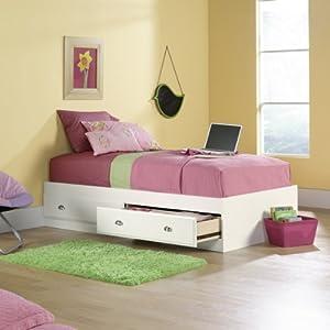 Sauder Shoal Creek Mates Bed in Soft White Finish