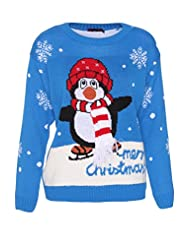 Ladies Fairisle Penguin Christmas Jumper