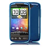 Hybrid XYLO-GEL Skin / Case / Shell for the HTC DESIRE Mobile Phone Range. (HTC Desire, Blue)by Xylo