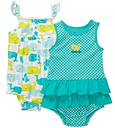 Carter\'s Infant 2-Pack Sunsuit - Turquoise-9 Months