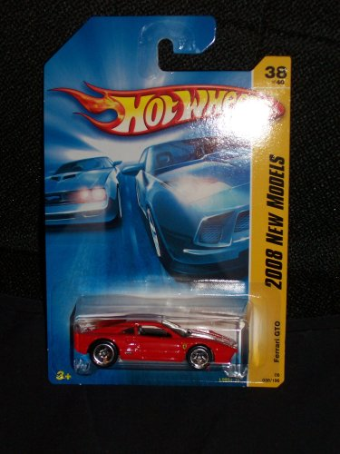 Hot Wheels 2008 038 38 New Models Red Ferrari GTO 1:64 Scale
