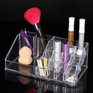 Organisateur rangement bo te rouge l vres brosse mascara - Boite de rangement maquillage acrylique ...