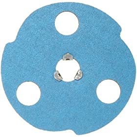 Norton Norzon Plus F826 AVOS Edger Metal Three-Finger Quick Change Abrasive Disc, Fiber Backing, Zirconia Alumina