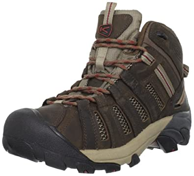 KEEN Men's Voyageur Mid Hiking Boot,Dark Earth/Burnt Henna,15 M US