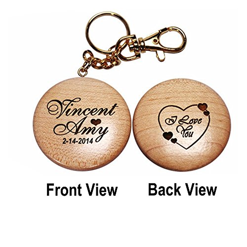 Thanh 39 Personalized Gifts - 'I Love You' Wooden Key Chain