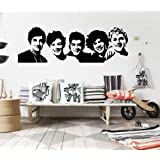 Dailinming One Direction 1D vinyl young bedroom art mural wall decals stickers paper