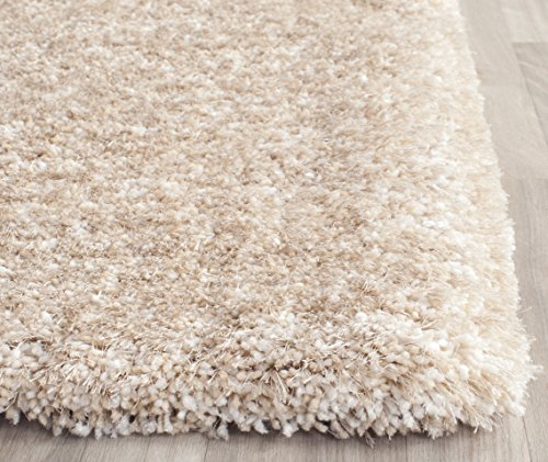 Safavieh South Beach Collection SBS562C Handmade Champagne Polyester Area Rug, 6 feet by 9 feet (6' x 9')