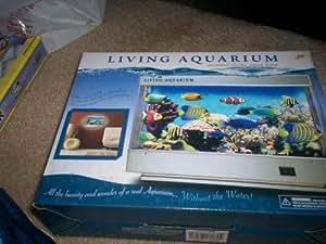 Living aquarium animated electric ocean lamp for Fake fish tank with moving fish