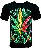 ROCK CHANG T-SHIRT Weed Chanvre Noir Black R 706 (s m l xl xxl) (M)