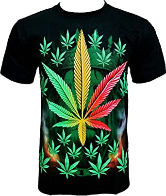 ROCK CHANG T-SHIRT Weed Chanvre Noir Black R 706 (s m l xl xxl) (S)