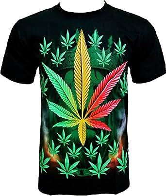 ROCK CHANG T-SHIRT Weed Chanvre Noir Black R 706 (s m l xl xxl) (S)