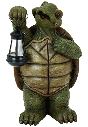 Led light large whimsical turtle tortoise statue sculpture for Whimsical garden statues