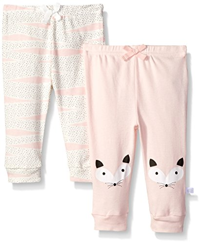 Rosie Pope Baby 2 Pack Pants, Pink, 0-3 Months