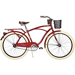 26 Huffy Nel Lusso Mens Cruiser Bike Drink Holder, Burgundy by Huffy