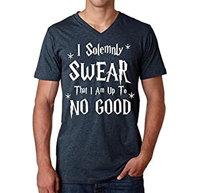 I Solemnly Swear That I Am Up To No Good Funny V-Neck T-Shirt