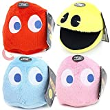 Pac-man 4 Plush Complete 4 Toy Set ~ Goldie with Red, Blue, and Pink Ghosts by Pac-Man
