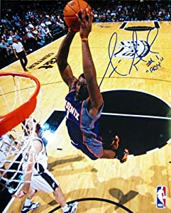 Amare Stoudamire ROY Autographed Signed Phoenix Suns Dunk vs Spurs 16x20 Photo by Hollywood Collectibles