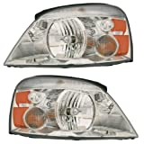 04-07 Ford Freestar Mercury Monterey Headlights Headlamps Lights Lamps Pair Set