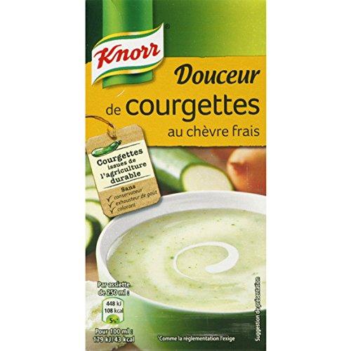 Knorr - Soupe douceur de courgette au chèvre frais - La brique de 50cl - (pour la quantité plus que 1 nous vous remboursons le port supplémentaire)