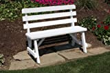 Outdoor 3 Foot Pine Picnic Table BACKED BENCH ONLY - PAINTED- Amish Made USA -Black