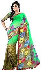 Jay Ambe Creation Women's Georgette Saree (ma1210)