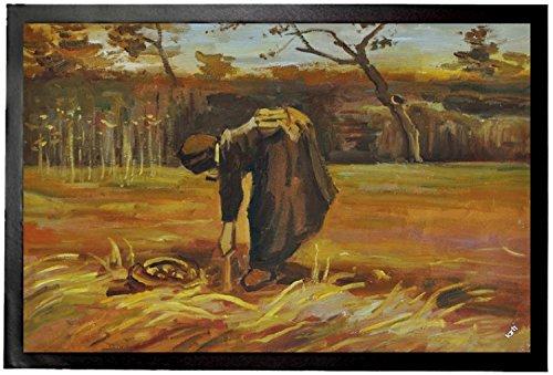 Vincent Van Gogh Paillasson Essuie-Pieds - Paysanne Déterrant Des Pommes De Terre, 1885 (60 x 40 cm)