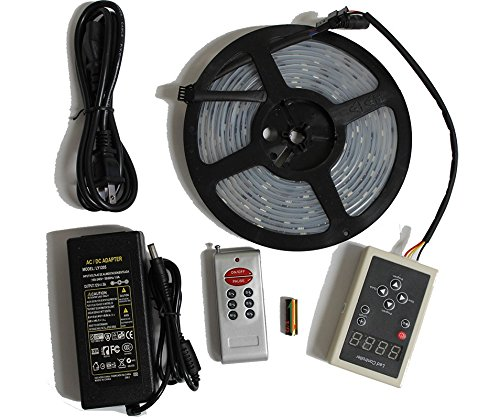 LED4Everything (TM) 5M 16.4ft 12v SMD IC 6803 5050 Dream Magic RGB LED Strip 133 Color Change + RF Remote Controller + 12V 5A Power Supply (Dream Color Led compare prices)
