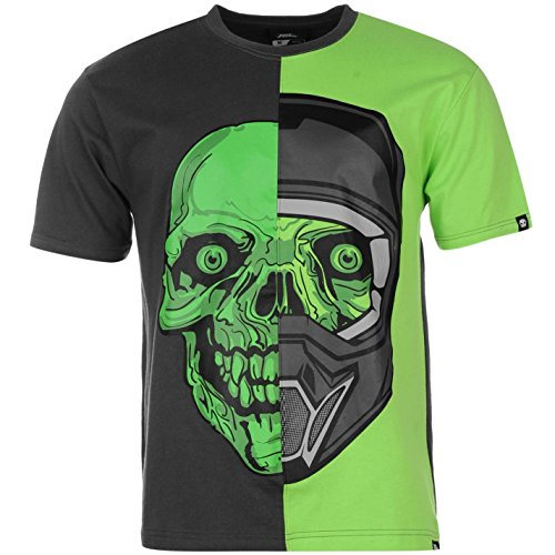 No Fear -  T-shirt - Uomo Char/Green Helm M